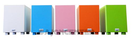 Farbvarianten baff Kindertrommelhocker gibt es in 2 Varianten